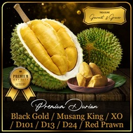 [TREASURE GOURMET] Fresh Durian Red Prawn D13 Mao Shan Wang MSW Black Gold Golden Phoenix Black Pearl 350g  新鲜榴莲