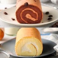 70%可可松露捲+北海道牛奶蛋糕共2入★嚴選比利時70%調溫巧克力磚製成巧克力香緹,及北海道鮮奶製作鮮奶香緹餡,帶給你二種不同口感享受