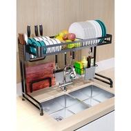 廚房不銹鋼水槽置物架晾碗瀝水架家用廚房置物架收納架水池放碗架 rddqaw68#