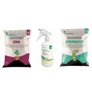 Green Spade - Bundle - Organic Potting Soil 5L & Vermicast 400g-450g (Fertiliser) & Neem Oil 500ml
