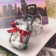 เด็กวันเกิด Favor กล่อง Party Supplies ของขวัญงานแต่งงาน Favors Clear Mini Rolling กระเป๋าเดินทางกล่องโปรดปราน