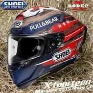 日本SHOEI X14 紅白螞蟻招財貓二代蚊子電源祭典摩托車安全頭盔帽