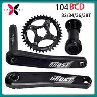 FOVNO Bike Bicycle Crankset 175mm MTB bike GXP Crank set with Chainring cycling chain ring 32T 34T 36T 38T with Bottom Bracket for SRAM XX1 XO1 X1 GX XO X9
