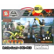 Lucky Jurassic Park Dinosaur Attack Building Blocks / Dinosaur Lego Toys / Dinosaur Attack Bricks / DIY Dinosaur Bricks
