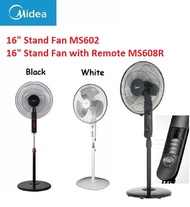 Midea 16inch Stand Fan MS602 Comes in Black  / Midea 16inch Stand Fan with Remote MS608R *2