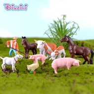 Simulation model Mini Farmland Worker Duck Miniature cartoon Figures fairy garden decoration DIY acc