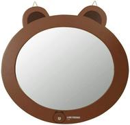 【UNIPRO】LINE FRIENDS 熊大 頭型 掛鏡 鏡子 正版授權 BROWN 布朗熊