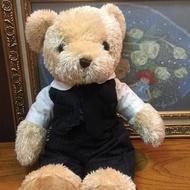 【TEDDY HOUSE 泰迪熊】泰迪熊玩偶公仔絨毛娃娃西裝泰迪熊超酷正版泰迪熊(正版泰迪熊可許願靈氣好運泰迪熊)