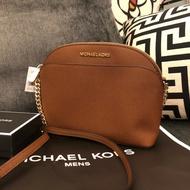 MK 字母logo防刮貝殼包 經典棕 手提包 側背包 公事包 MICHAEL KORS 現貨 美國代購
