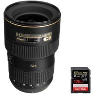 ビーチカメラNikon ( 2182) 16–35mm f / 4g ed-vr af-s広角ズームレンズwith SanDisk Extreme Pro 128GB SDXC UHS - 1メモリーカード