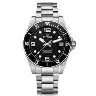 TITONI瑞士梅花錶83600 S-BK-256海洋探索SEASCOPER 600 男士系列潛水機械錶 /黑面42mm