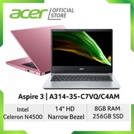 [2021 Model] Acer Aspire 3 A314-35-C7VQ/C4AM (Pink/Silver) Laptop with 8GB RAM and 256GB SSD Storage