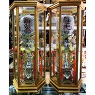 2尺7 龍角燈 安金 雙色 錫燈 含框 外框寬25公分