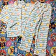 實拍~日單 角落生物法蘭絨保暖兒童居家服睡衣套裝 粉/綠 130/140現貨
