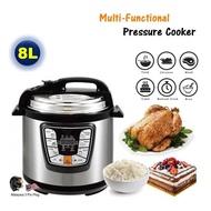 HM18 8L 1300W Electric Pressure Cooker 6 Programmed Timer Rice Cooker Pressure Cooker 8L