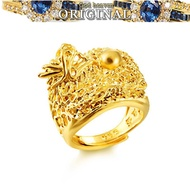 916 Gold Hot Sale Jewelry Gold Ring Ring Chinese Retro Wind King Jinlong Men