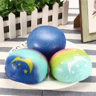 Galaxy Bun Bread Scented Squishy Slow Rising Squeeze Strap Kids Toy Gift