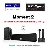 AC RYAN Moment 2 - Wireless Karaoke Soundbar (Gen2) - Come with 2 Wireless Mic