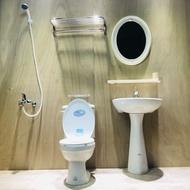 hcg 和成 衛浴套組 馬桶 臉盆 臉盆龍頭 沐浴龍頭 鏡子 置物架 面紙盒