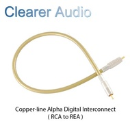 CLEARER AUDIO COPPER-LINE ALPHA DIGITAL INTERCONNCET SPECIFICATION 2M ( RCA to RCA )