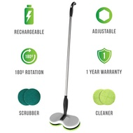 Gladwell Cordless Rechargeable Electric Mop - Floor Cleaner + Scrubber Dual Head Spin Rotating Desig