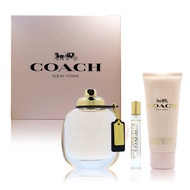 COACH 同名時尚經典淡香精 3入禮盒2020(淡香精90ml+7.5ml+身體乳100ml)