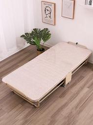 摺疊床實木折疊床單人家用午休雙人簡易辦公室午睡硬板床木板行軍床便攜