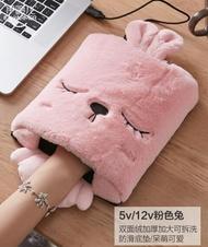 usb暖手滑鼠墊發熱加熱墊暖手寶冬天暖手套電腦護腕保暖墊滑鼠套