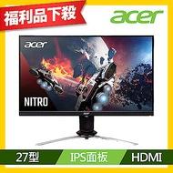 Acer XV273K P 27型IPS 薄邊框4K極速電競電腦螢幕 福利品