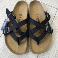 BIRKENSTOCK 特賣鞋款 黑色牛巴戈夾腳拖鞋 (真皮)