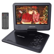 """DBPOWER 11.5"""" Portable DVD Player with 9"""" Swivel Screen, 5-Hour Built-in Rechargeable Battery, Support CD/DVD/SD Card/USB, with 1.8 Meter Car Charger and Power Adaptor (Black)"""