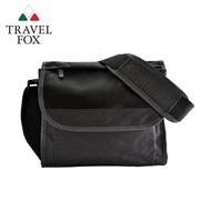 【TRAVEL FOX 旅狐】簡約商務鑽紋公事包/側背包(TB599-01 黑色)