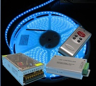 Complete Set 20meters RGB LED Strip light with RF Remote controller for ceiling cove light