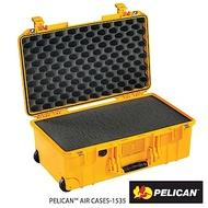 美國 PELICAN 1535 Air 輪座拉桿超輕氣密箱-含泡棉(黃)