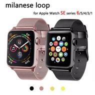 Crested Milanese LOOP สำหรับ Apple Watch SE band Apple Watch series 6 5 4 3 สาย 44mm 42mm I Watch band 40mm 38mm Bracelet BELT