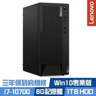 Lenovo M90t 商用桌上型電腦 i7-10700八核心/8G/1TB HDD/Win10 Pro/三年保到府維修/ThinkCentre