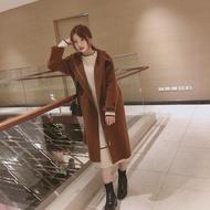 W正韓 w korea 牛角手工羊毛大衣
