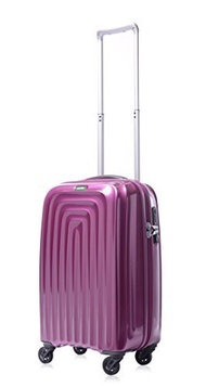 Lojel Wave Polycarbonate Carry-On Upright Spinner Luggage, Violet, One Size