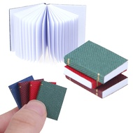 XIUZH 4PCS/Set 1/12 Scale Model Accessories Doll House Scene Miniature Books Dollhouse Furniture Can Be Opened Mini Book For Dolls