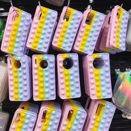 Pop It Phone Case Fidget Toys For Huawei P40 P30 Mate40 Mate30 Nova 8 7 6 5 Pro Case Popit Rainbow Silicone Cover Release Stress