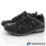 日本月星Moonstar機能男鞋戶外多功能系列4E寬楦防水透濕健走鞋款016黑(男段)