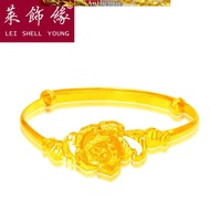 916 pure gold flower bracelet