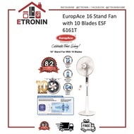 """EuropAce 16"""" Stand Fan with 10 Blades ESF 6161T"""