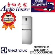 ELECTROLUX EME-3700H-A 337L 3 DOOR FRIDGE *** 2 YEARS ELECTROLUX WARRANTY *** FREE DELIVERY!! ***