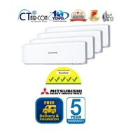 Mitsubishi Air-Con Inverter System 4 (3 Bedrooms and 1 Living) + FREE $300 NTUC Voucher