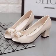 รองเท้าส้นสูงแฟชั่นผู้หญิง คัชชูหนัง ทำงาน Office Women รุ่น PSA