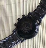 正品Emporio Armani亞曼尼手錶 AR1507 Classic 精密陶瓷三眼計時腕錶/男錶/44mm