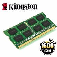 全新 盒裝 金士頓 Kingston KVR16LS11/8 DDR3 1600 8G 低電壓 1.35V 筆電 記憶體