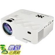 [8玉山最低比價網] 【日本代購】DBPower 迷你型 LED 投影機 亮度1500流明 1080P HDMI ★iPhone/Android手機可連接