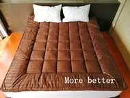 Topper premium แผ่นรองที่นอน ผลิตจากโรงงานไทย เกรดพรีเมี่ยม หนา 10 Cm ขนาด 6 ฟุต/ 5 ฟุต/ 3.5 ฟุต